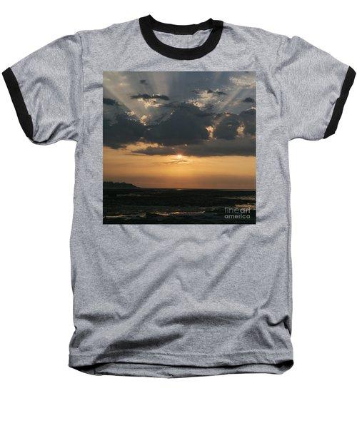 Sunrise Over The Isle Of Wight Baseball T-Shirt