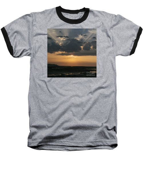Sunrise Over The Isle Of Wight Baseball T-Shirt