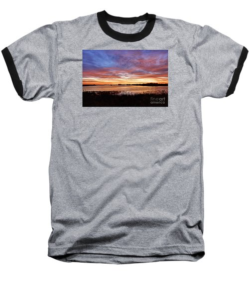 Baseball T-Shirt featuring the photograph Sunrise Over The Marsh by Larry Ricker
