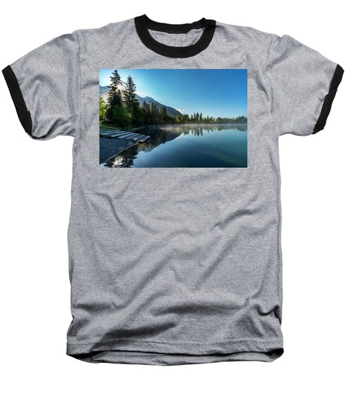 Baseball T-Shirt featuring the photograph Sunrise Over The Mountain And Through The Tree by Darcy Michaelchuk