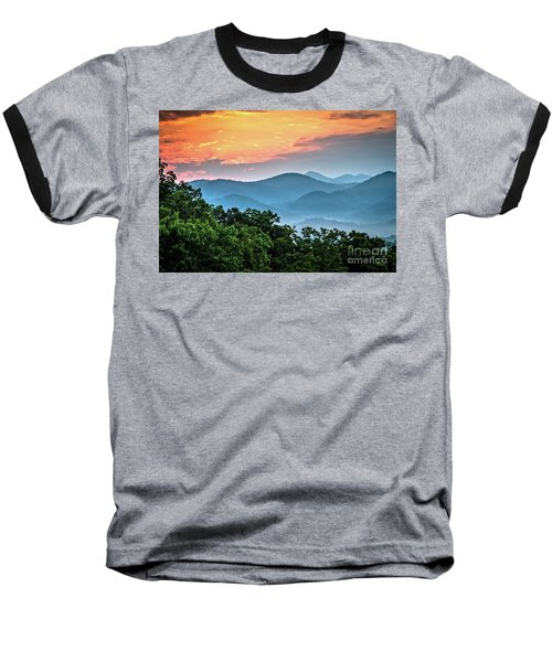 Baseball T-Shirt featuring the photograph Sunrise Over The Smoky's by Douglas Stucky