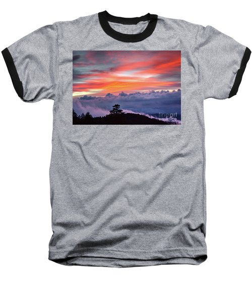 Baseball T-Shirt featuring the photograph Sunrise Over The Smoky's II by Douglas Stucky