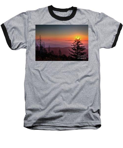 Baseball T-Shirt featuring the photograph Sunrise Over The Smoky's IIi by Douglas Stucky