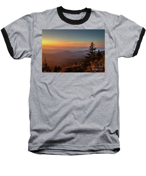 Baseball T-Shirt featuring the photograph Sunrise Over The Smoky's V by Douglas Stucky