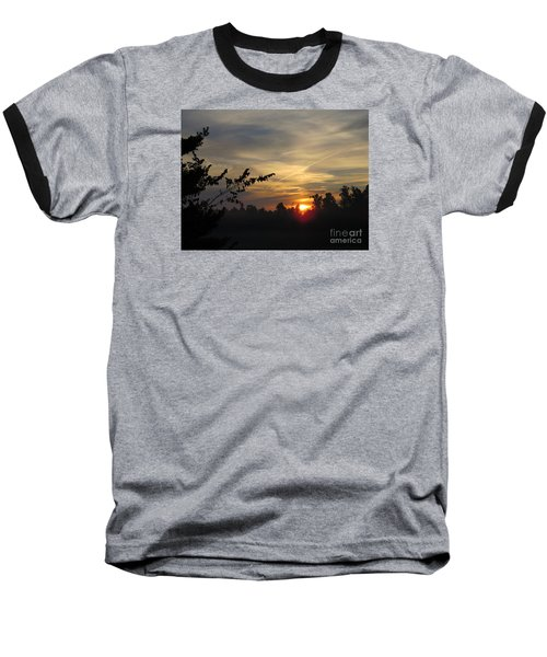 Sunrise Over The Trees Baseball T-Shirt by Craig Walters