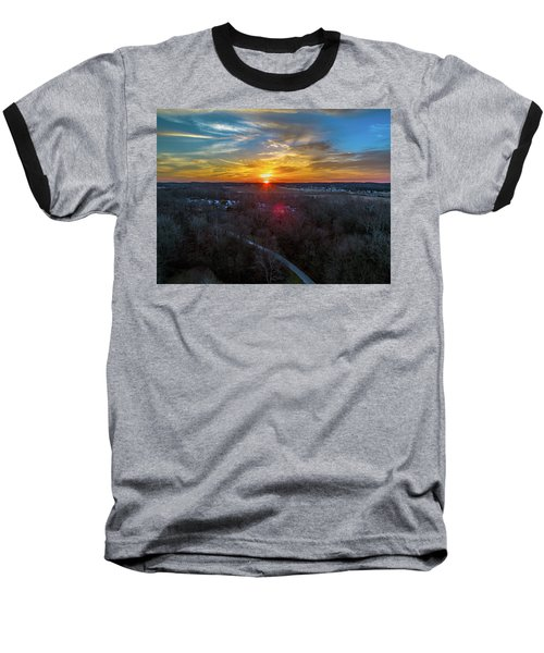 Sunrise Over The Woods Baseball T-Shirt