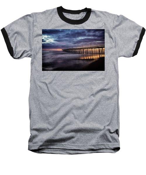 Sunrise Pier Baseball T-Shirt