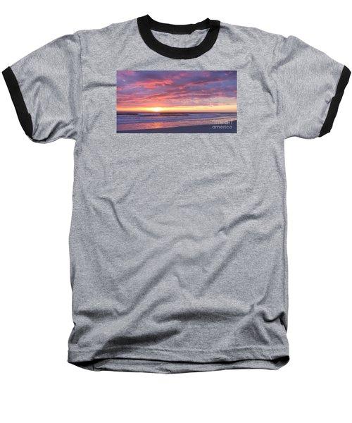 Sunrise Pinks Baseball T-Shirt by LeeAnn Kendall