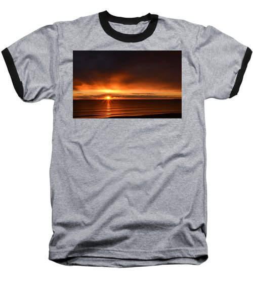 Sunrise Rays Baseball T-Shirt by Nancy Landry