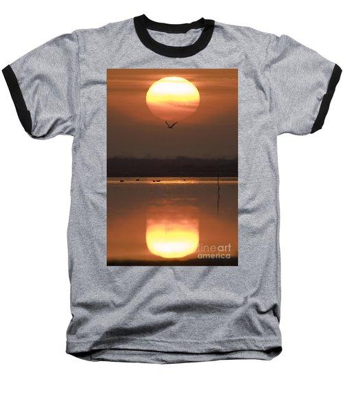 Sunrise Reflection Baseball T-Shirt by Hitendra SINKAR