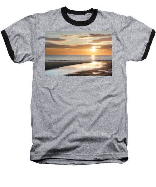 Sunrise Reflections At Aberdeen Beach Baseball T-Shirt