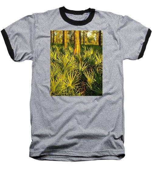 Sunrise Saw Palmettos Baseball T-Shirt