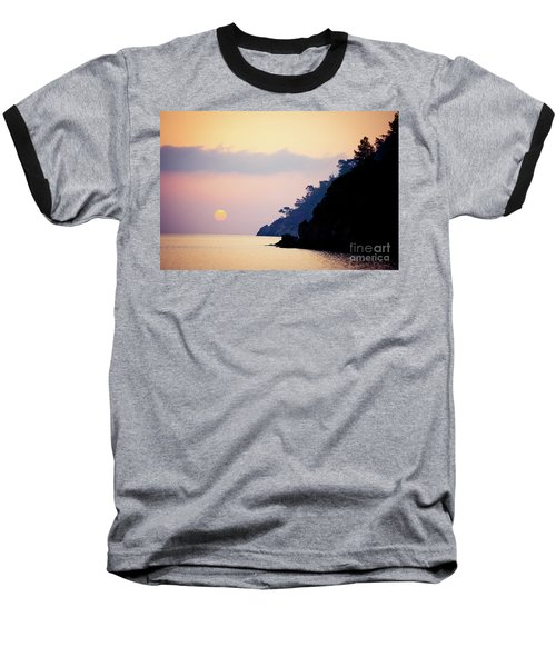 Sunrise Sea Rythm  Baseball T-Shirt