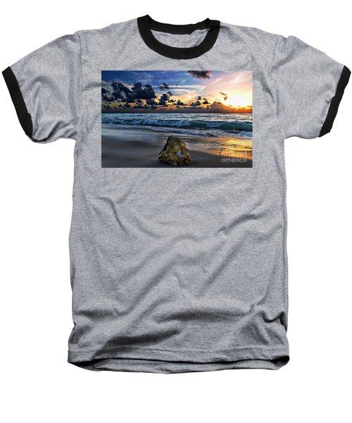 Sunrise Seascape Wisdom Beach Florida C3 Baseball T-Shirt