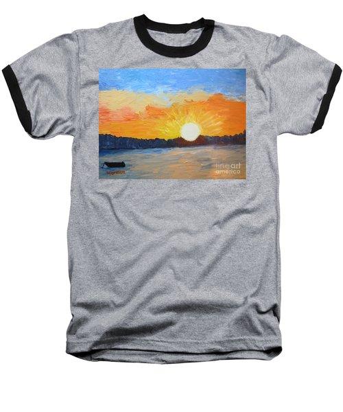 Sunrise At Pine Point Baseball T-Shirt