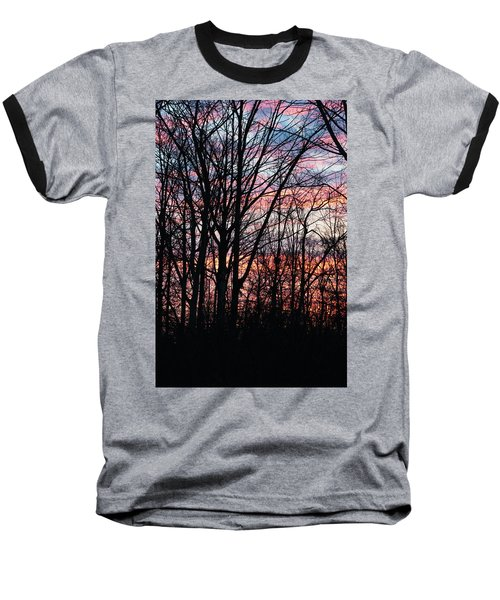 Sunrise Silhouette And Light Baseball T-Shirt