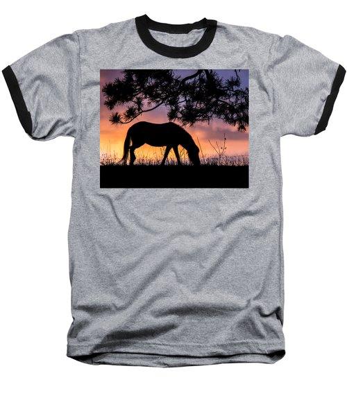 Sunrise Silhouette Baseball T-Shirt