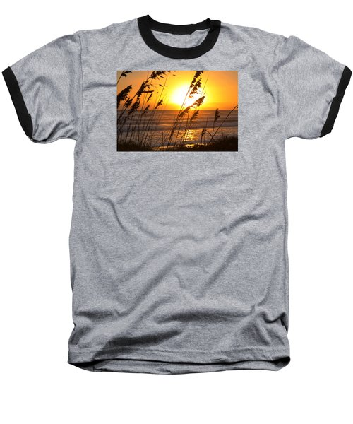 Sunrise Silhouette Baseball T-Shirt by Robert Och