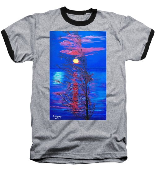 Baseball T-Shirt featuring the painting Sunrise Silhouette by Sharon Duguay