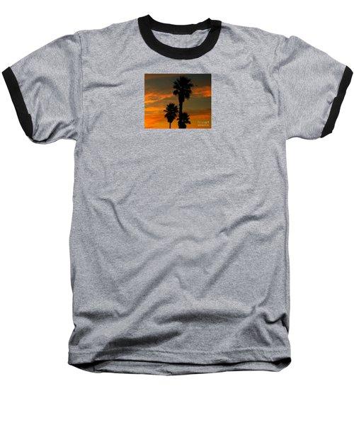 Sunrise Silhouettes Baseball T-Shirt by Janice Westerberg