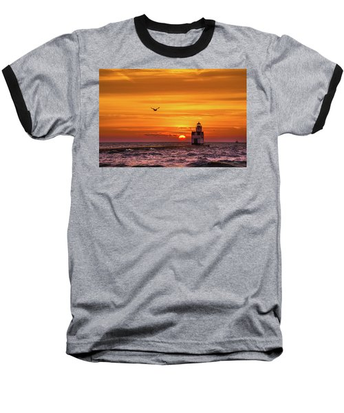 Baseball T-Shirt featuring the photograph Sunrise Solo by Bill Pevlor
