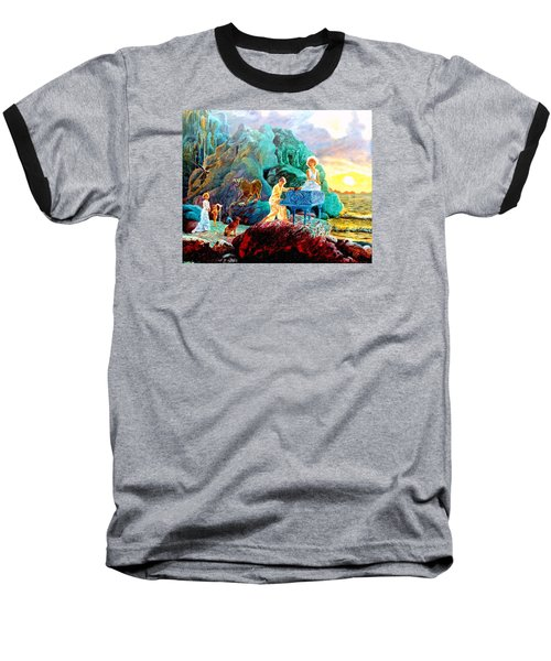 Baseball T-Shirt featuring the painting Sunrise Sonata by Henryk Gorecki
