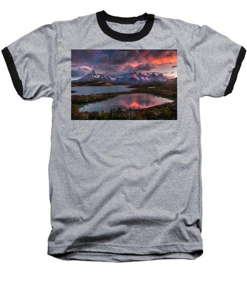 Sunrise Spectacular At Torres Del Paine. Baseball T-Shirt