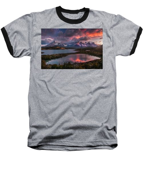 Sunrise Spectacular At Torres Del Paine. Baseball T-Shirt