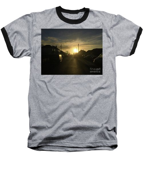 Sunrise Street Baseball T-Shirt by Andrew Middleton