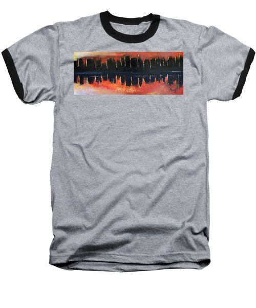 Baseball T-Shirt featuring the painting Sunrise Sunset by Gary Smith