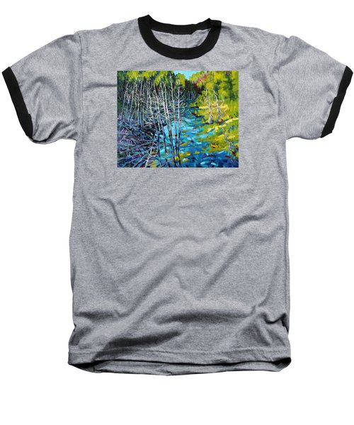 Sunrise Swamp Baseball T-Shirt