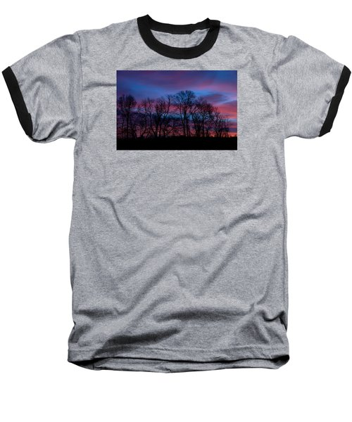 Sunrise Through Barren Trees Baseball T-Shirt