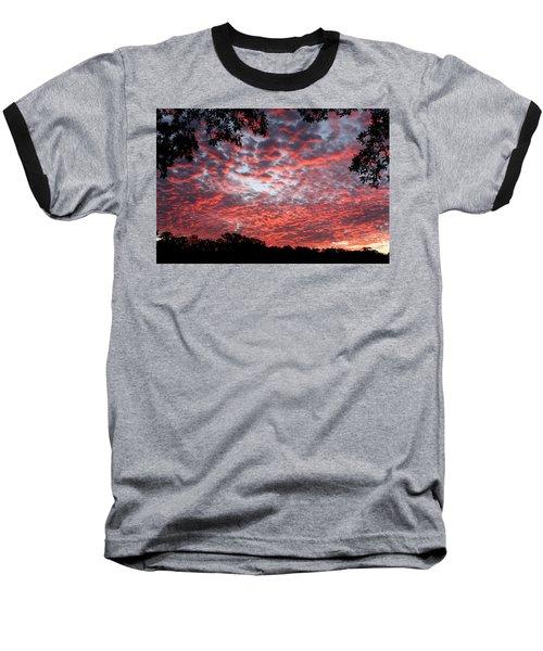Sunrise Through The Trees Baseball T-Shirt by Sheila Brown