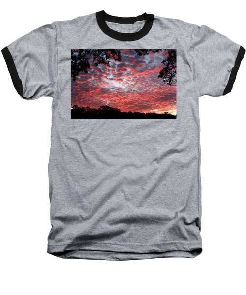 Sunrise Through The Trees Baseball T-Shirt