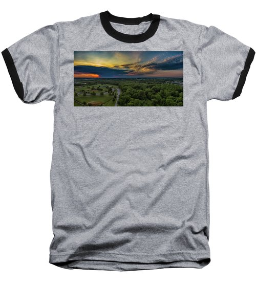 Sunrise Thru The Clouds Baseball T-Shirt