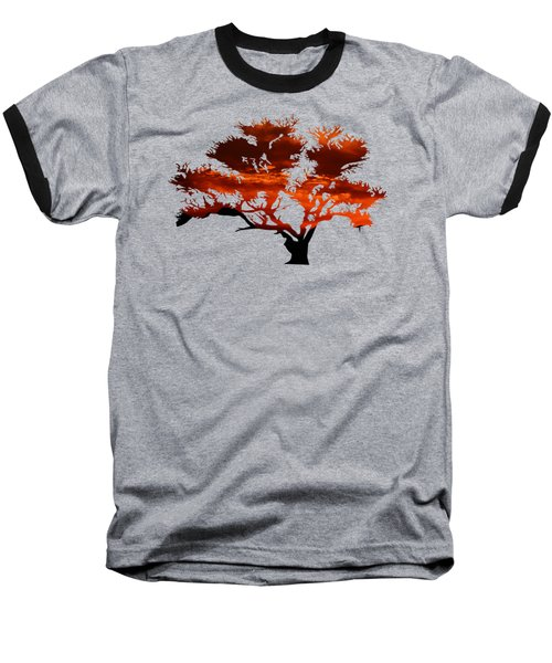 Sunrise Tree 2 Baseball T-Shirt