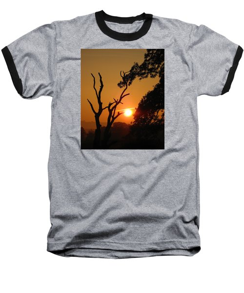 Sunrise Trees Baseball T-Shirt by RKAB Works