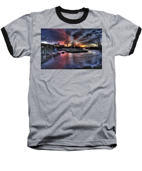 Sunrise Trestle #1 Baseball T-Shirt by Fiskr Larsen
