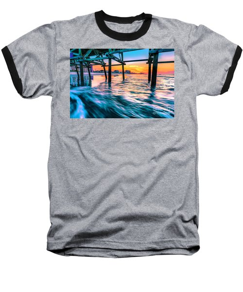 Sunrise Under Cherry Grove Pier Baseball T-Shirt