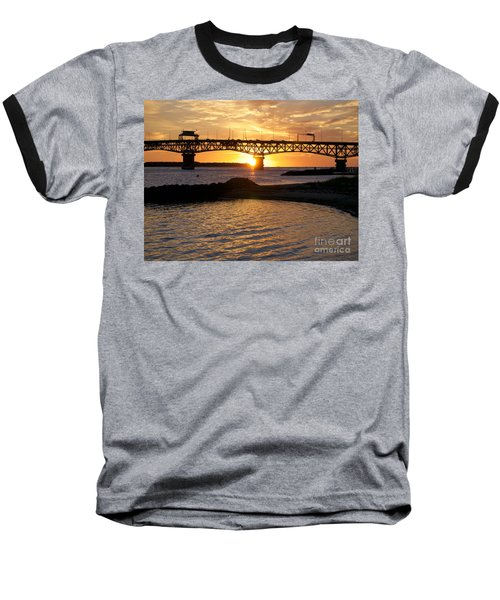 Sunrise Under Coleman Bridge Baseball T-Shirt
