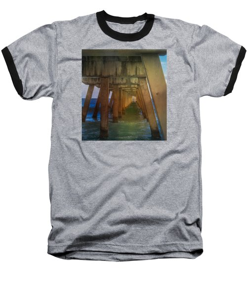 Sunrise Under The Pier Baseball T-Shirt by Arlene Carmel