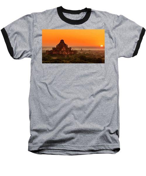 Sunrise View Of Dhammayangyi Temple Baseball T-Shirt