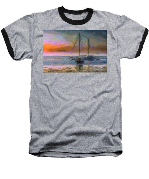 Sunrise With Boats Baseball T-Shirt