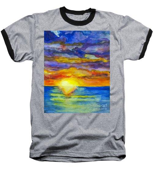 Sunset 1 Baseball T-Shirt