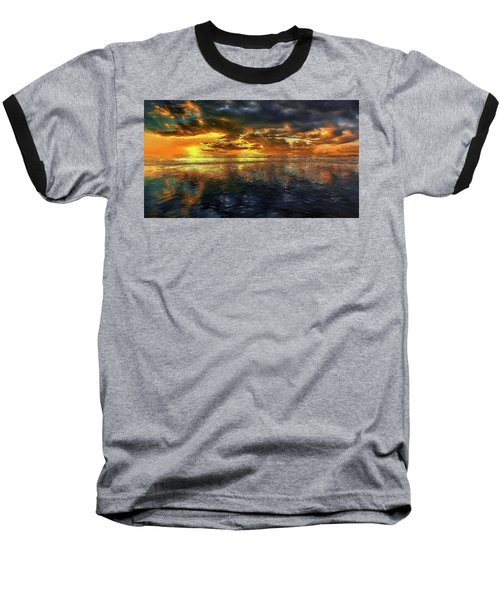Sunset #95 Or Sunset Over The Atlantic. Baseball T-Shirt by Alex Galkin