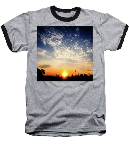 Baseball T-Shirt featuring the photograph Sunset 25 May 16 by Toni Martsoukos