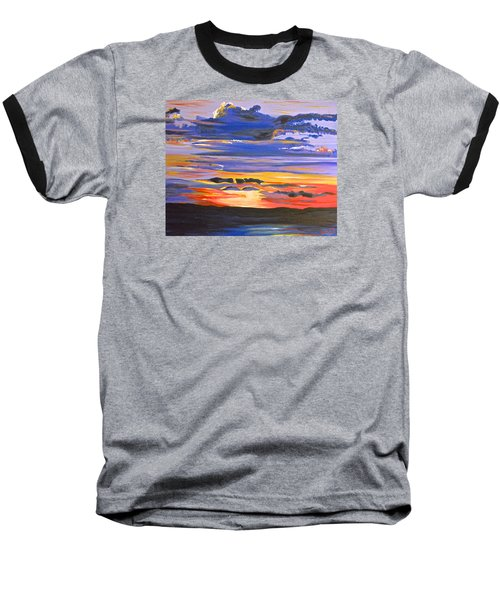 Sunset #5 Baseball T-Shirt by Donna Blossom