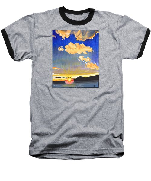 Sunset #6 Baseball T-Shirt by Donna Blossom