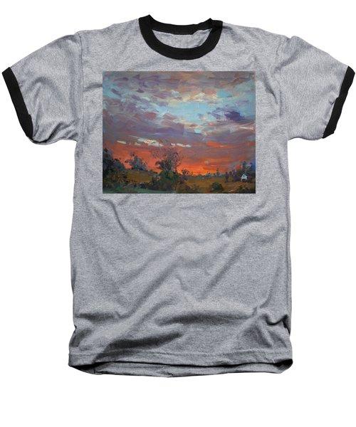 Sunset After Thunderstorm Baseball T-Shirt