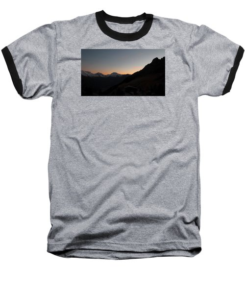 Sunset Afterglow In The Mountains Baseball T-Shirt by Ernst Dittmar